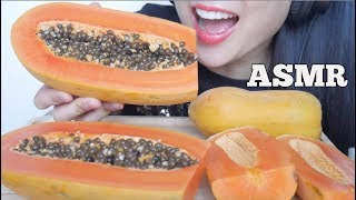 ASMR DELICIOUS SWEET PAPAYA (EATING SOUNDS) | SAS-ASMR