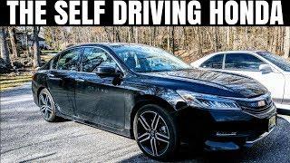 The Self Driving Honda   2017 Accord V6 Touring Self Driving Demonstration