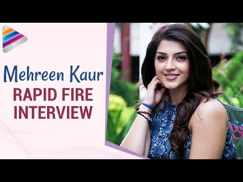 Mehreen Kaur Reveals Funny Facts about Ravi Teja & Nani | Rapid Fire Interview | Telugu Filmnagar