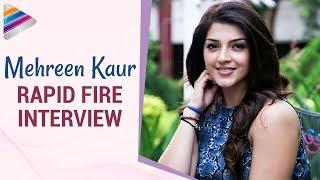 Mehreen kaur reveals funny facts about ravi teja & nani | rapid fire interview | telugu filmnagar