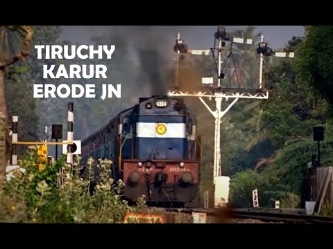 Exciting Train Journey Through Semaphore Territory of Rural Tamil Nadu - Indian Railways