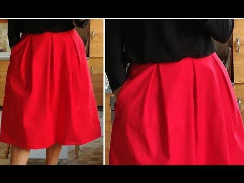 Se coudre une jupe à plis avec 1m de tissu et sans patron ✨ Marion Blush