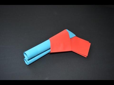 origami - Como hacer una pistola de papel -  juguete de papel