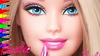 NEW BARBIE SUPER GLITTER Coloring Book Page Kids Fun Art Activities Learning Videos For Kids