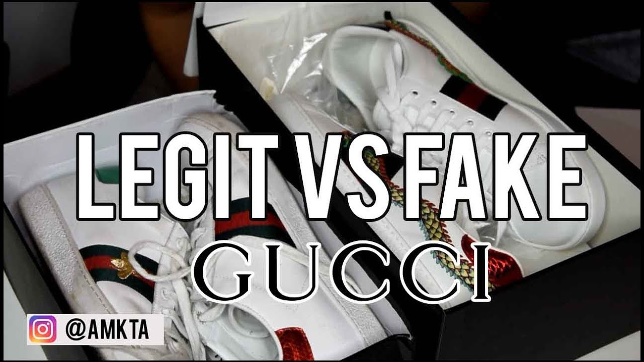 Confronto Sneaker Gucci Ace Legit Vs Fake Youtube