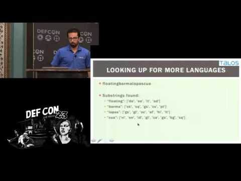 DEF CON 23 - Mahdi Namazifar - Detecting Randomly Generated Strings