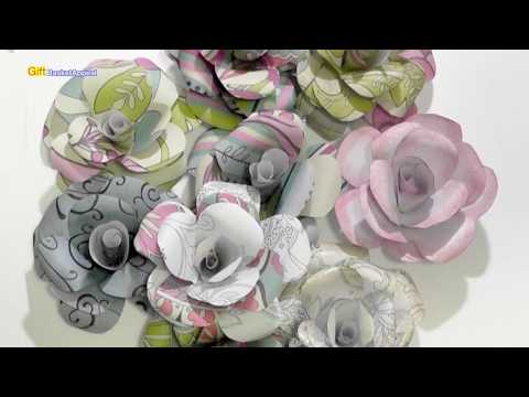 HOW TO MAKE PAPER ROSES   DIY FLOWERS