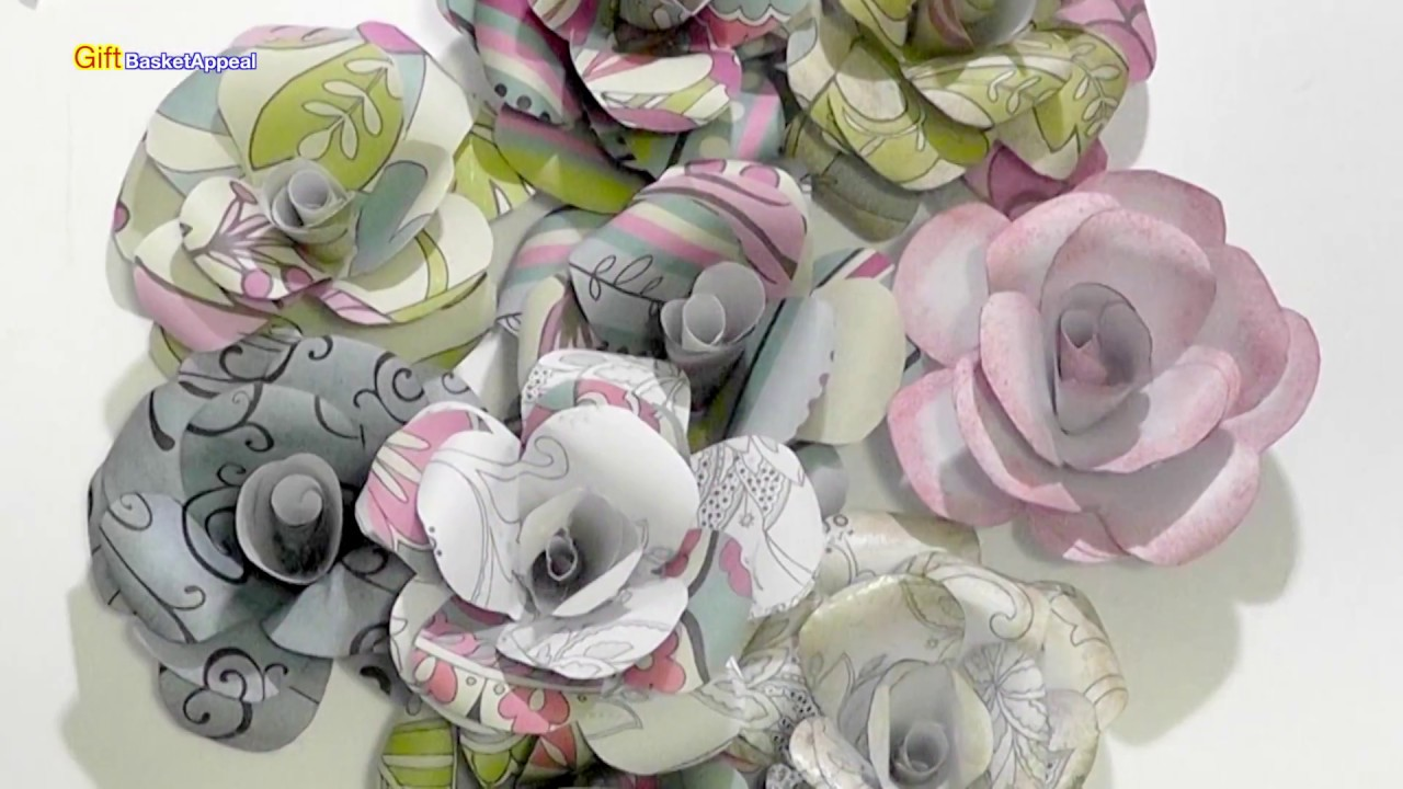 How To Make Paper Roses Diy Flowers Youtube