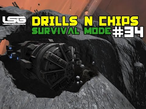 Space Engineers - Drills & Thrills Chip Vs Crisps  - Part 34
