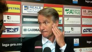 Mister Tesser al termine di Cremonese Arezzo 3-2