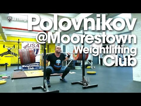 Vasiliy Polovnikov 320kg x2 Squat at Moorestown Weightlifting Club New Jersey