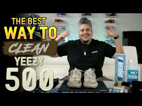 "Yeezy 500 ""Blush"" Cleaning + Suede Care Tips"