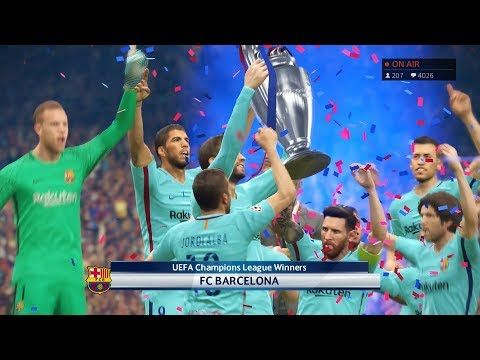 PES 2018 UEFA Champions League Final Manchester United vs Barcelona Gameplay PS4
