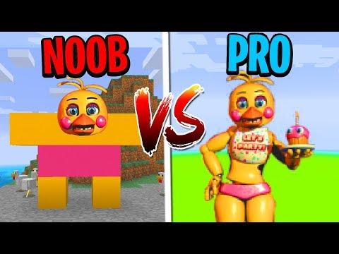 Minecraft NOOB vs. PRO: FIVE NIGHTS AT FREDDY'S in Minecraft!