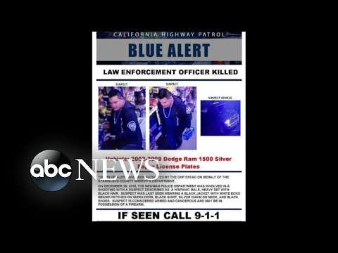 Urgent manhunt for suspect accused of killing California police officer