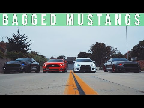 BAGGED AND SUPERCHARGED MUSTANGS