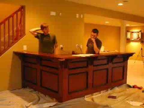 Bar Install (With Cabinets and Soundtrack) - YouTube
