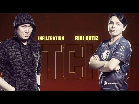 SFV - E-League | Infiltration ( Juri ) vs Ricki Ortiz ( Chunli ) 0-13 Ricki?! | Group A Prelims