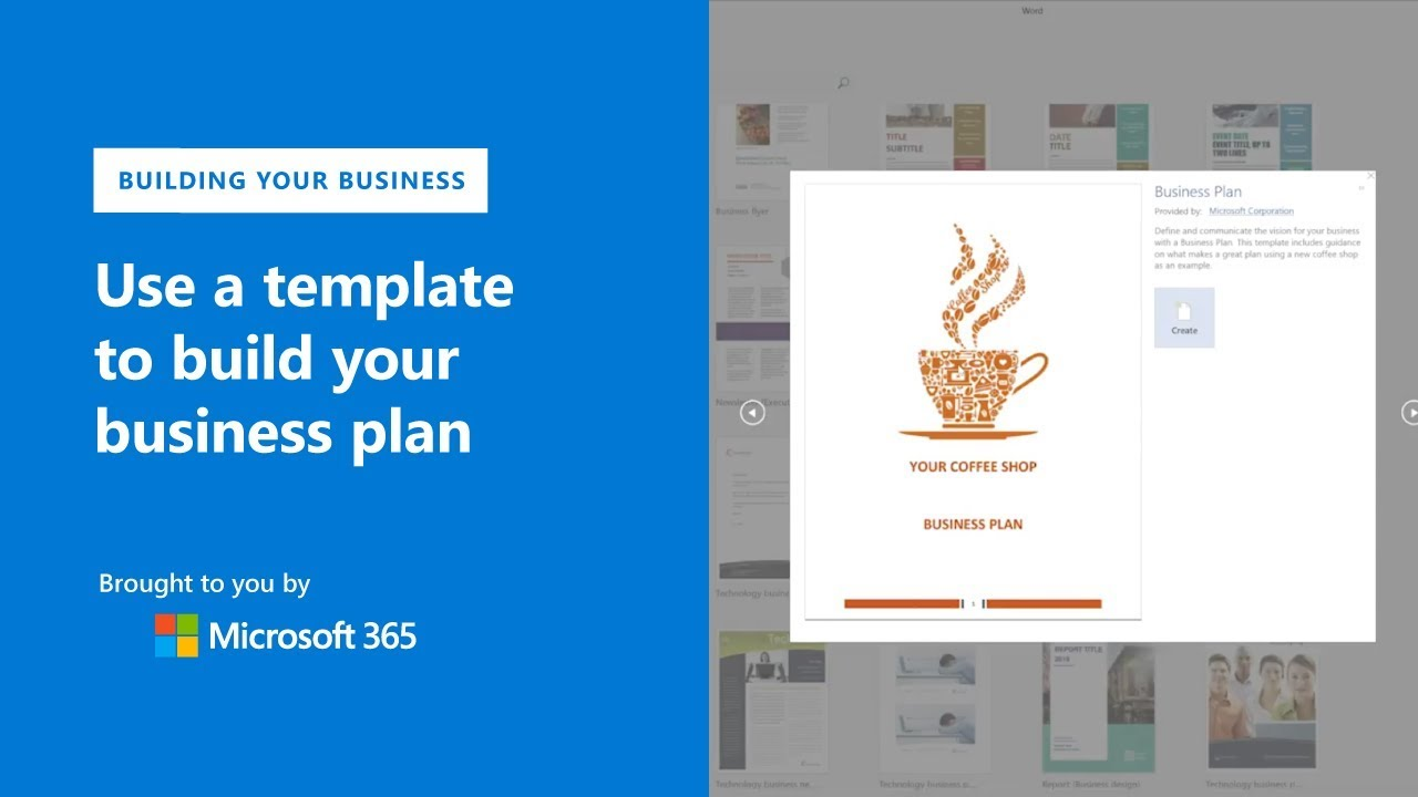 Create your business plan with templates in microsoft word youtube create your business plan with templates in microsoft word wajeb Image collections