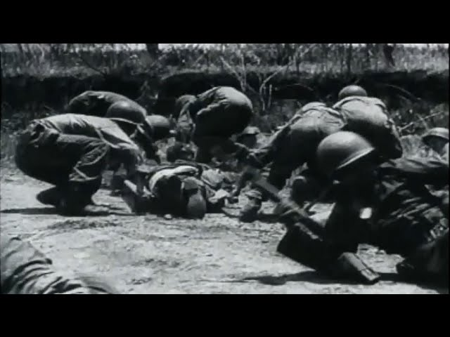 US Army Soldiers in Combat on Luzon & Mindanao Battle of Philippine Islands WW2 Footage w/ Sound