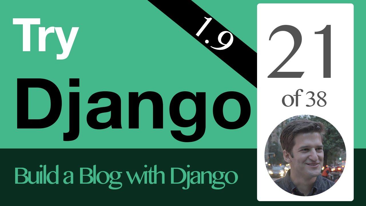 Try Django 1 9 - 21 of 38 - Instance Update View