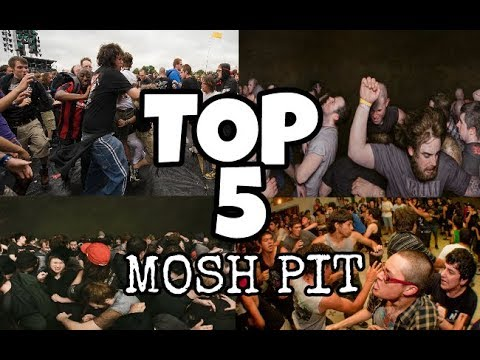 TOP 5 DE  MOSH PIT MAS BRUTALES EN CONCIERTOS DE ROCK Y METAL .