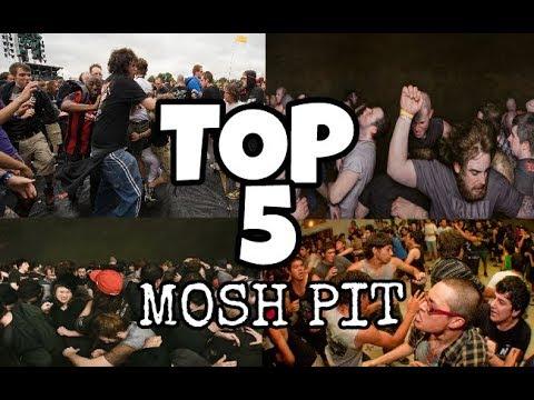 TOP 5 DE  MOSH PIT MAS BRUTALES EN CONCIERTOS DE ROCK Y METAL .