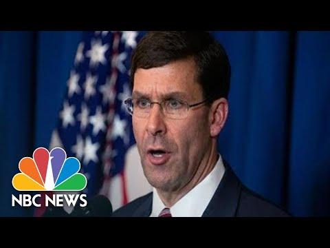 Watch Live: Defense Secretary Esper Gives Briefing Amid Iran Conflict | NBC News (Live Stream)
