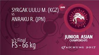 1/2 FS - 66 Kg: R. ANRAKU (JPN) Df. M. SYRGAK UULU (KGZ), 3-2