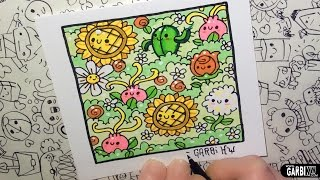 Kawaii Flowers by Garbi KW - How to Draw Patterns for your doodles