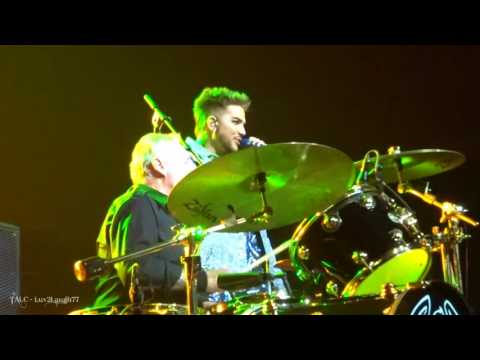 Q ueen + Adam Lambert - Drum Battle & UP - Prudential Center - Newark, NJ