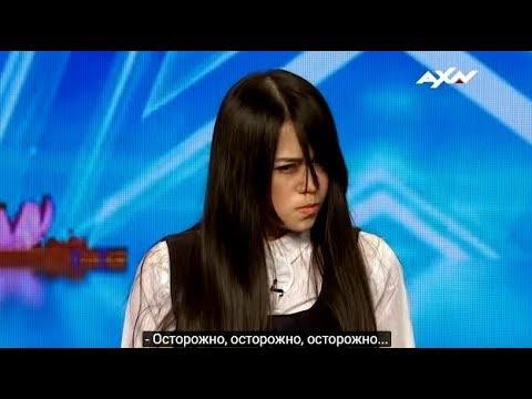 Сакред Риана (на русском) напугала судей  на шоу Талант Азии
