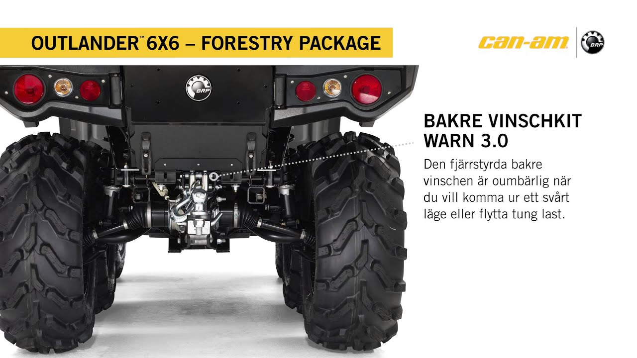 Can Am Outlander 6x6 1000 Xt Forestry Package Sweden Youtube