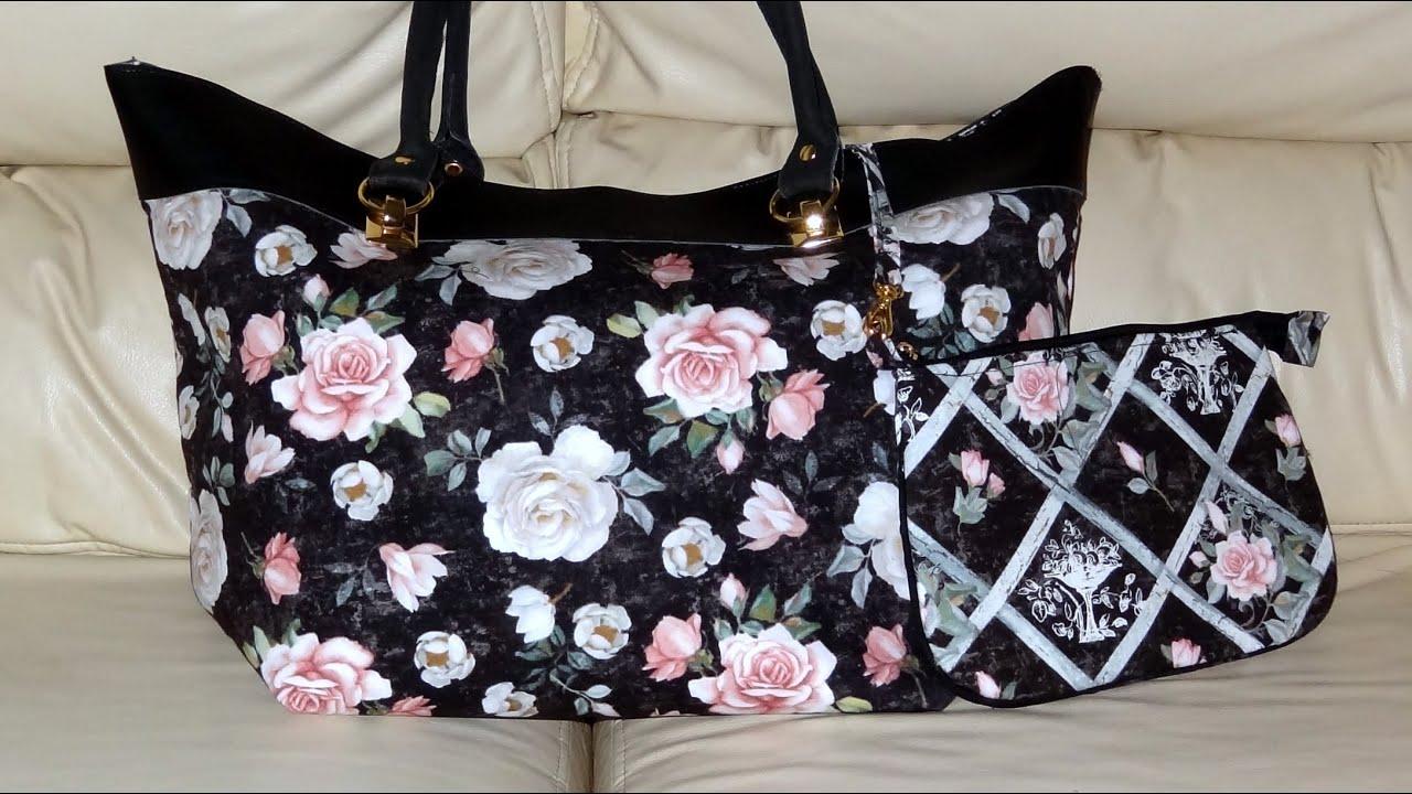 Bolsa De Praia Em Tecido Passo A Passo : Bolsa em tecido e sint?tico das rosas diy fabric bags