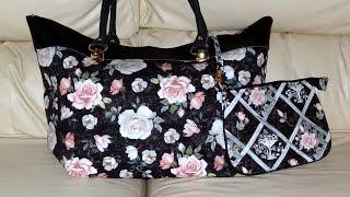 Bolsa em tecido e couro ecológico