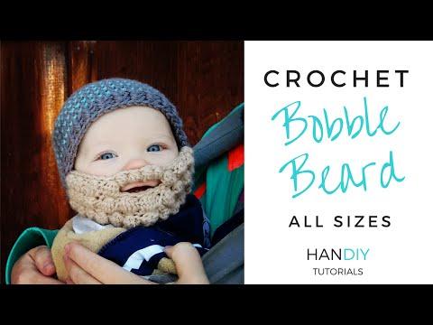 Easy Crochet Beard Tutorial (Free Bobble Beard Pattern All Sizes by Ashlee Marie)