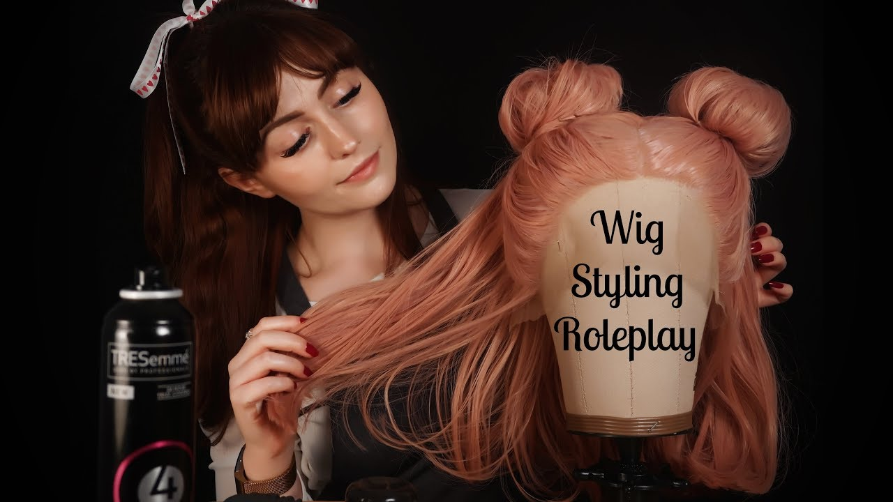[ASMR] Wig Styling Roleplay - Haircut and Brushing