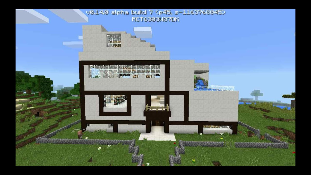 Minecraft pe modern house seed for Modern house minecraft pe