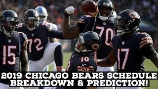 Chicago Bears Full 2019 Schedule Breakdown & Record Prediction!