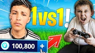J'OFFRE 300€ de V-BUCKS a cet ABONNER s'il me bas en 1vs1 sur FORTNITE BATTLE ROYALE !