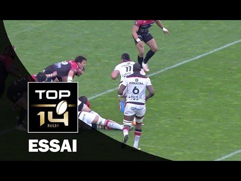 TOP 14 ‐ Essai Paul PEREZ (TLS) – Toulon-Toulouse – J23 – Saison 2016/2017