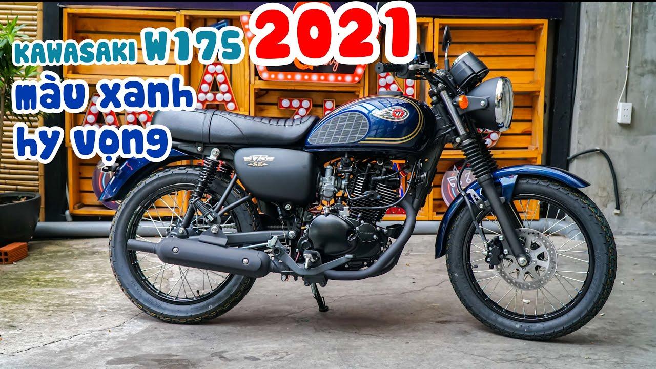 Mô tô giá rẻ | Kawasaki W175 SE 2021 màu xanh hi vọng