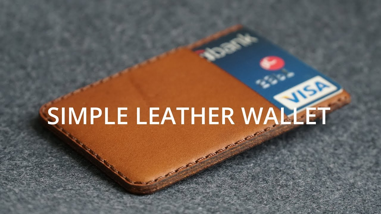 Minimalist Leather Wallet How It S Made Diy Leather Craft