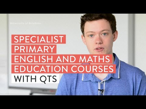 Specialist Primary English and Maths Education courses with QTS