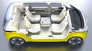 VW I.D. BUZZ INTERIOR REVIEW 2018 VW Campervan INTERIOR 2018 Electric VW ID REVIEW New CARJAM