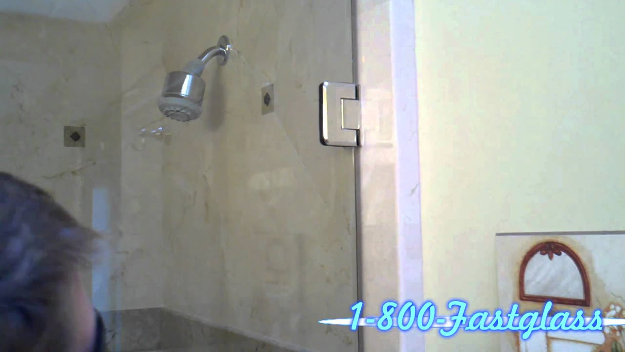 Frameless Shower Door Hinges - YouTube