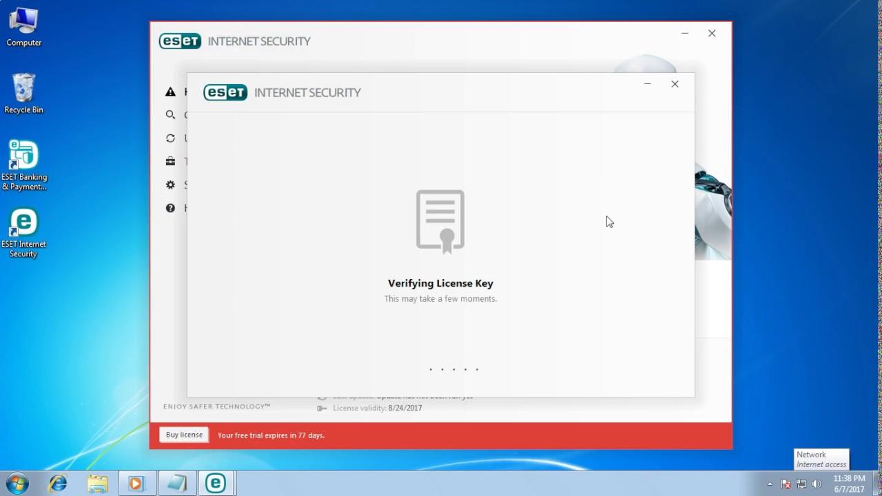 eset internet security 10 license key 2017