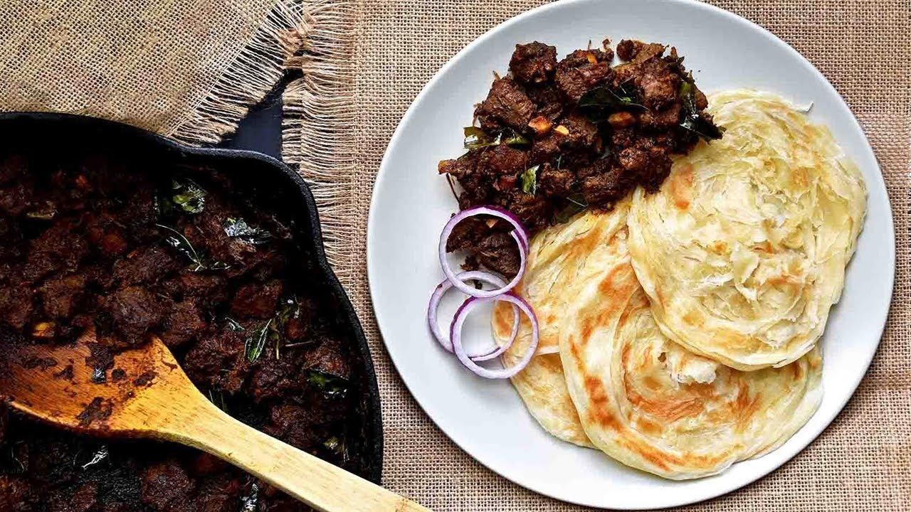 parotta with beef curry specially for food lovers | Food videography |  chanceless combination - YouTube