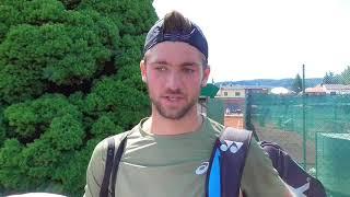 Patrik Rikl po vítězství v 1. kole Rieter Open Ústí nad Orlicí 2018