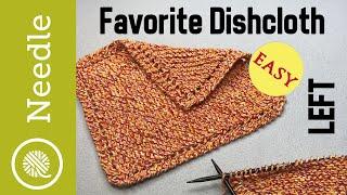 How To Knit   Grandmas Favorite Dishcloth - Beginner (Left Handed)
